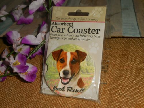 JACK RUSSELL TERRIER ABSORBENT CAR COASTER ~ FAST SHIPPING
