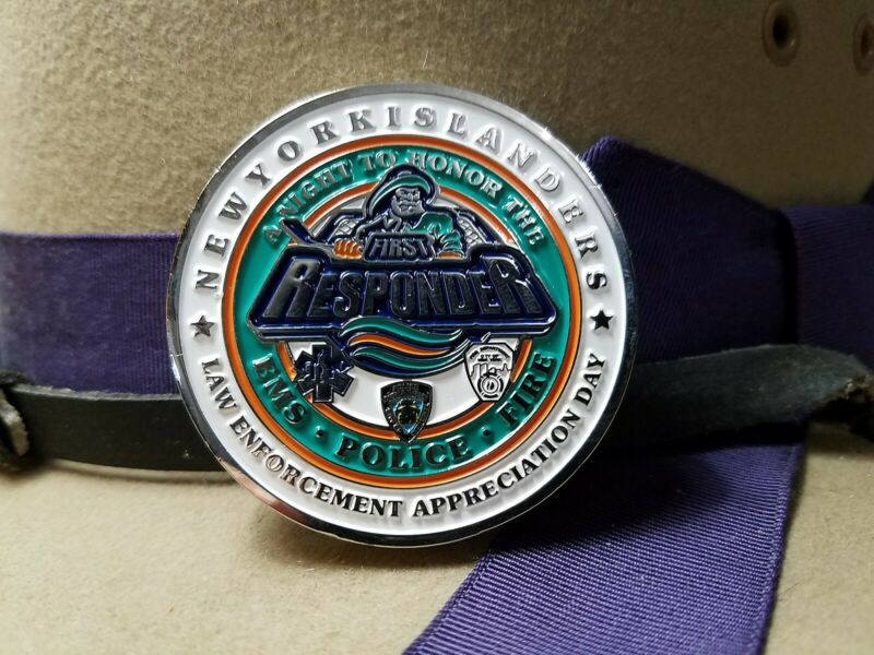 New York City Police NY Islanders First Responder EMS POLICE FIRE Challenge Coin