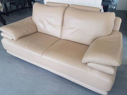 Leather Lounges 3 , 2 & 1 Seater