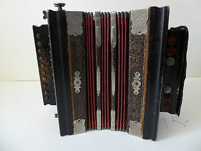Lyra Accordion - Bruno - Metal Reeds - 10 Button - Made in Germany - Antique
