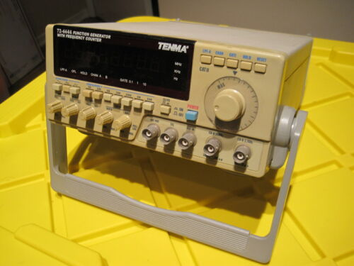 TENMA MODEL 72-6644 10MHz SWEEP FUNCTION GENERATOR / FREQUENCY COUNTER L@@K!