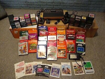 Atari 2600 Sunnyvale Sixer With 94 Games Joysticks some boxed Manuals tested