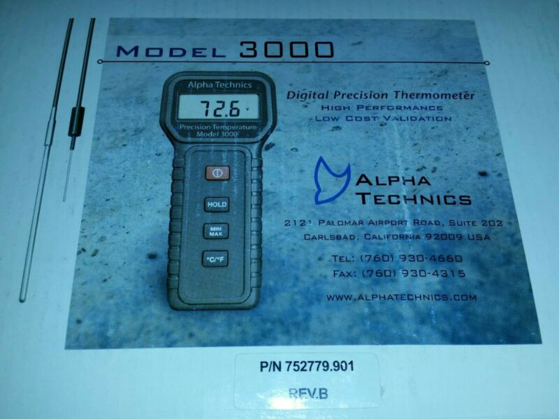 ALPHA TECHNICS PRECISION TEMPERATURE  DIGITAL THERMOMETER MODEL 3000