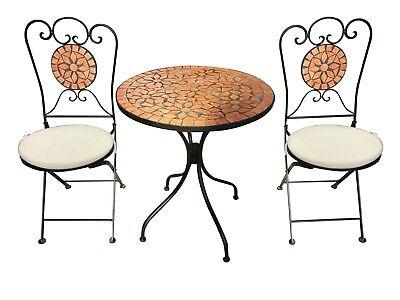 Bistro-Set Eisen Gartengruppe Sitzgruppe Stuhl Tisch M…  