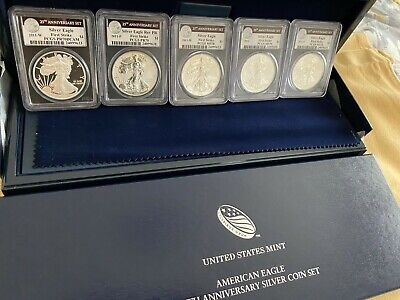 2011 P W S 25th Anniversary Silver Eagle 5 coin set! PCGS all 70s First Strike!