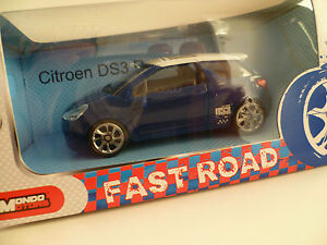 citroen ds3 racing bleu toit blanc neuf ebay. Black Bedroom Furniture Sets. Home Design Ideas