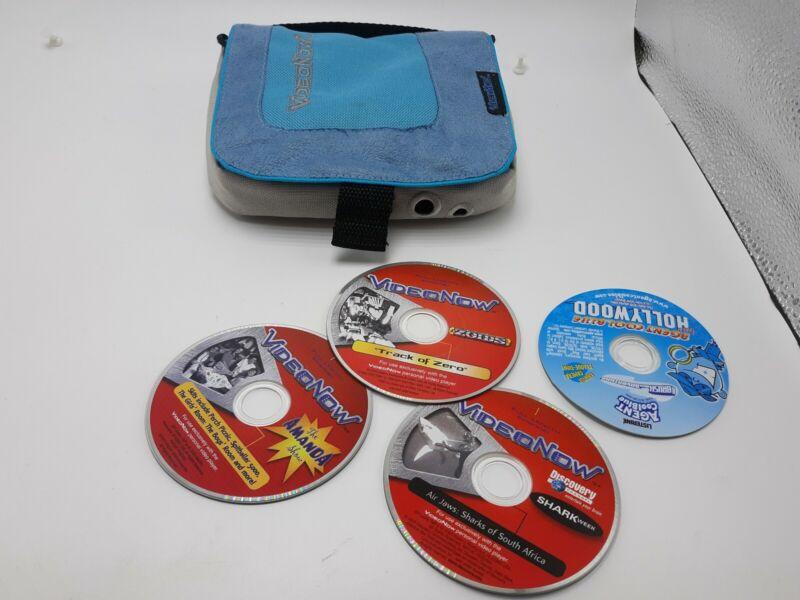 Vintage 2003 Original Video Now magenta Player w/ case & 3 discs TESTED WORKING