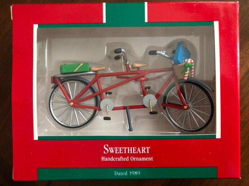 HALLMARK 1989 SWEETHEART BICYCLE ORNAMENT