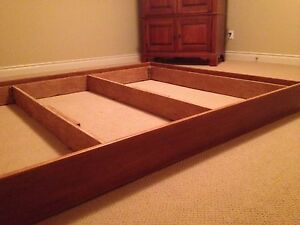 Bed box frame only for queen bed