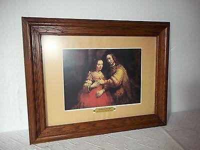 Bild-Farbdruck Rembrandt im Eiche Rahmen Holzrahmen