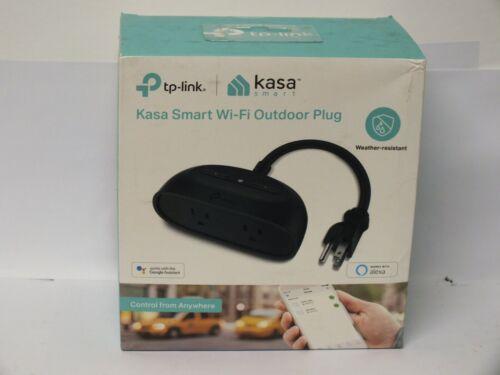 Sealed ! TP-Link Kasa Smart Wi-Fi Outdoor Plug #KP400(US) Black  - Free Shipping