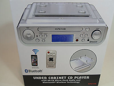 Craig Under Cabinet CD Player AM/FM Radio Alarm Clock Bluetooth Kitchen New!
