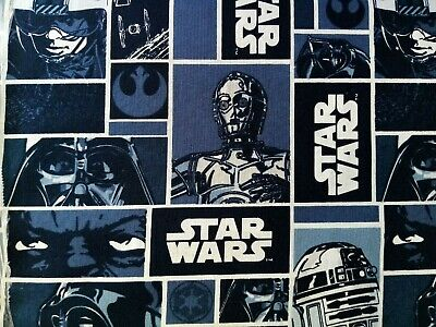 Camelot StarWars Blocks Yoda Darth Luke R2D2 FQ/Half metre 100% cotton,free p&p,