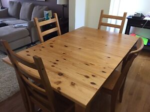 IKEA  Stornas Expandable Kitchen Table and 4 Chairs