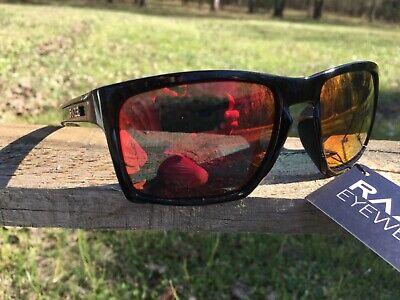 RAZE Eyewear Sunglasses Journey mirrored red lens black frame smoke