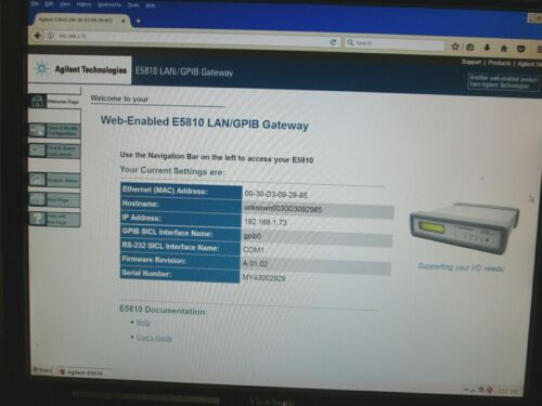 Agilent E5810A LAN/GPIB Gateway FULLY TESTED! IEEE-488 to Ethernet converter