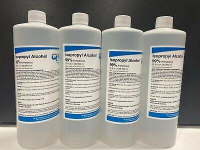Isopropyl Alcohol 99 Anhydrous 4 Bottles 32 Oz.each 128oz 1 Gallon Total