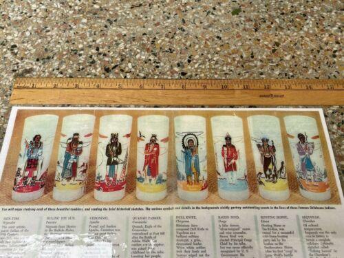 Knox Oil / Acee Blue Eagle, Oklahoma Indian Glasses Laminated Flyer / Postcard