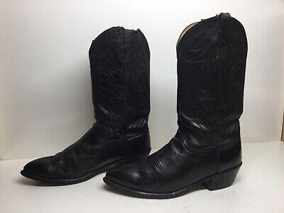 VTG MENS ACME COWBOY BLACK BOOTS SIZE 10.5 EW