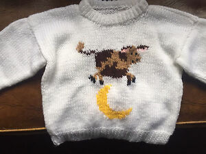 Hand knitted Sweater. New. Size 9-12 months