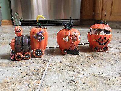 Halloween Pumpkin Express Train (Pumpkin Express Train Halloween Decorative Accessories Home Decor - 3pc Set)
