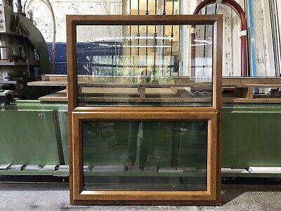 SECOND HAND Golden Oak UPVC Window, 1200mm By 1485mm (W4819)