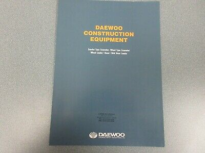 Daewoo Construction Equipment Full Line Color Brochure 6 Pages