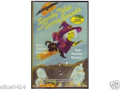 SPOOKY TALES AND SCARY SOUNDS HALLOWEEN CASSETTE TAPE NEW SEALED FREE - Halloween Sounds Gratis