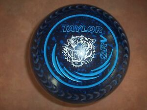Taylor SRV Lawn Bowls Size 5H WB24 Gripped Blue Speckled - Tiger Surfers Paradise Gold Coast City Preview