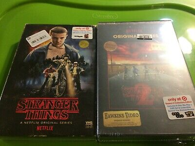 Stranger Things Seasons 1 and 2 on Blu Ray and DVD in Target Exclusive Packaging - Thing 1 And 2
