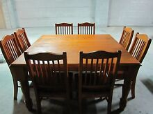 Solid Timber Square Dining Table with 8 Matching Chairs Cobbitty Camden Area Preview