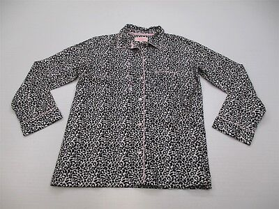 new VS VICTORIA'S SECRET Pajamas Women's Size S Leopard Button Front Shirt K4894