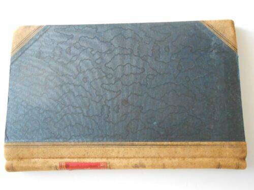 Antique Leather Bound DAY BOOK Ledger Journal partially used