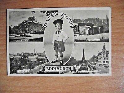 Vintage Postcard of A Wee Bit Scotch from Edinburgh Excel Series