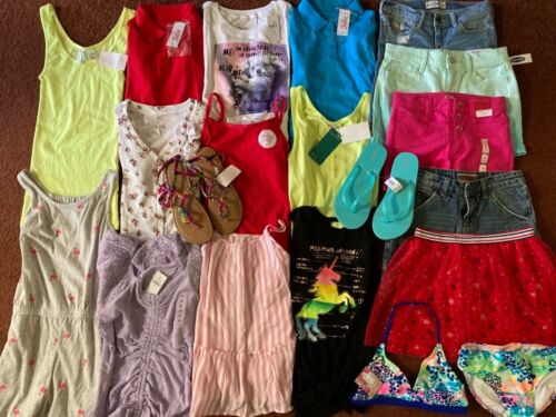 Girls Huge Size 12 SPRING SUMMER SCHOOL Clothing LOT Old Navy Justice  ALL NEW