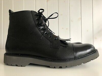 House of Hounds Men's Black Leather Tyler Boots Size UK 10