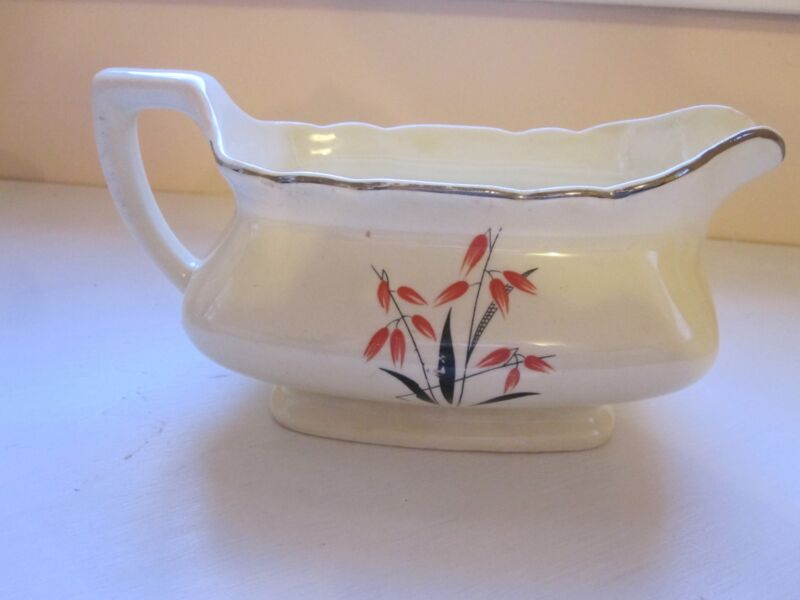 W. S. George Lido Canarytone Gravy Boat 016A Made in U.S.A. 1940s-50s