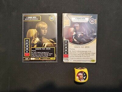 Star Wars Destiny Sabine Wren Covert Missions w/ Die and a Worlds 2019 Promo