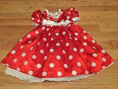 NWOT Sz 4 Disney Store Mini Mouse Costume Red White Polka Dot Dress - Girls Mini Mouse Costume