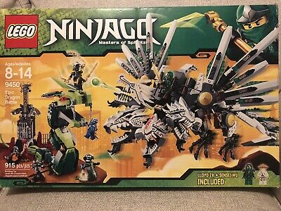 Lego 9450 Ninjago Epic Dragon Battle Complete With Minifigures Manuals & Box