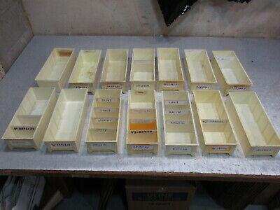 Lot Of 14 White Plastic Parts Storage Bins 5 W X 12 L X 3 14 H Maximize Space