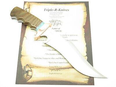 RRR SUB HILT MICARTA FIXED BOWIE KNIFE R5 by 1st BUCK CUSTOM