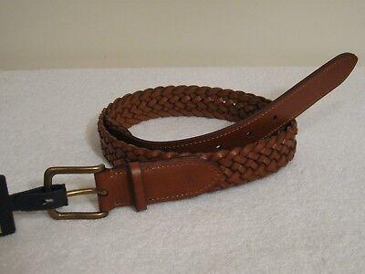 Polo Ralph Lauren Men's Braided Leather Belt NWT Brown Brown Braided Belt