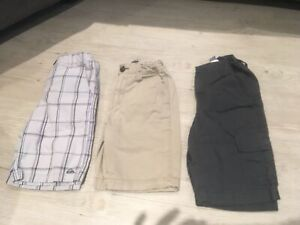 3 pairs of boys shorts - size 6 and 7