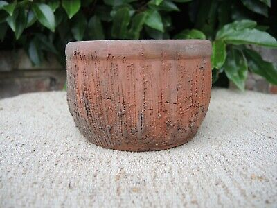 Unusual Vintage Hand Thrown Terracotta Bowl Plant Pot 4.75