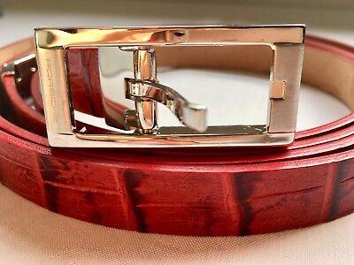 PORSCHE DESIGN ++ Damen Leder Gürtel rot ++ DRIVER´S  SELECTION ++ Geschenk Idee (Damen Designer Gürtel)