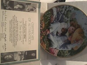 '1989 ' A time to love' limited edition collectors plate