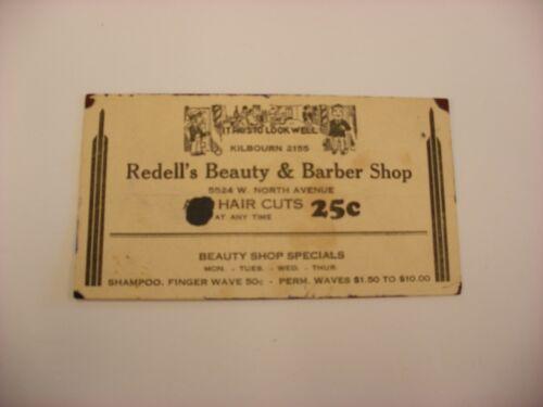 Antique Vtg Milwaukee WI Advertising Blotter - Redell