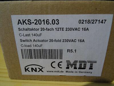 MDT AKS-2016.03 Schaltaktor 20-fach, 12TE, REG, 16A, 230VAC, C-Last, Standard, 1