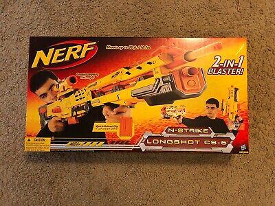NIB RARE Nerf Longshot CS-6 Yellow (Discontinued)